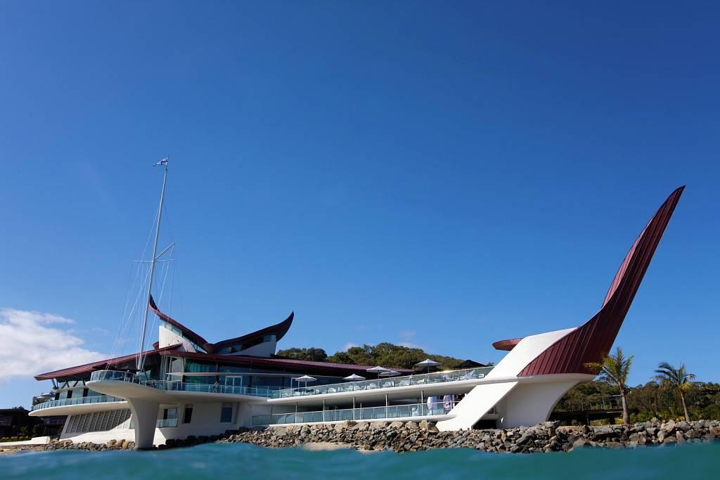 Hamilton Island Yacht Club from water