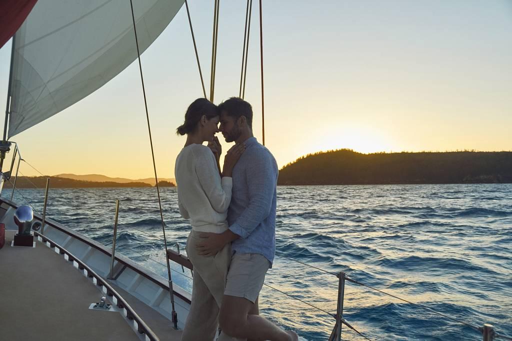 Couple Sunset Sailing