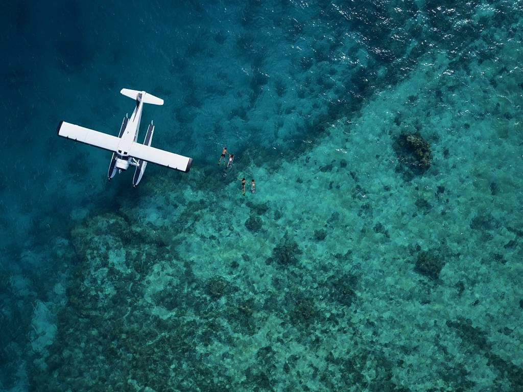 Seaplane at the reef